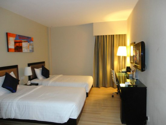 The Brunei Hotel: 宿泊した部屋(デラックスルーム)