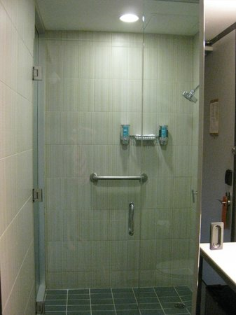 Aloft Montreal Airport: Really nice shower!