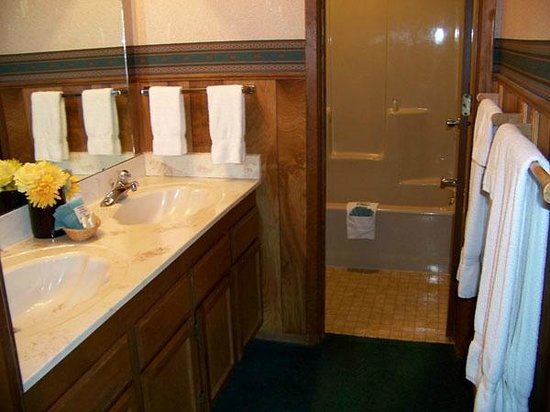 Ponderosa Lodge: bathroom and tub