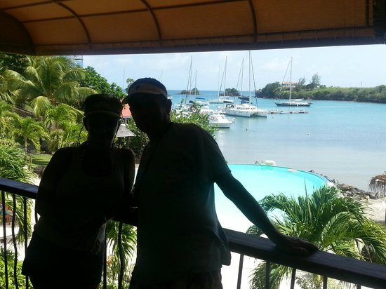 True Blue Bay Boutique Resort : View from the upstairs balcony