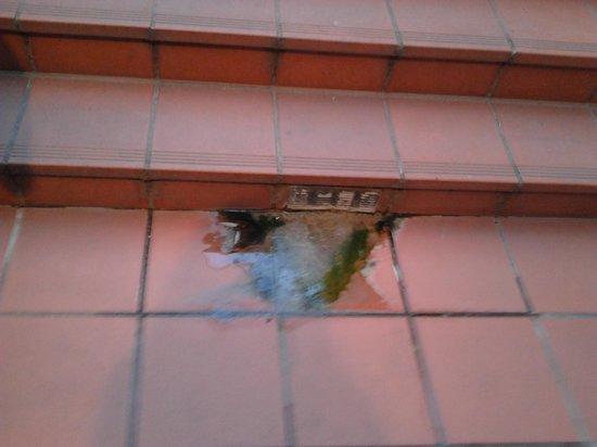 Privilege Hotel Mermoz: Pozzanghera sulle scale!!