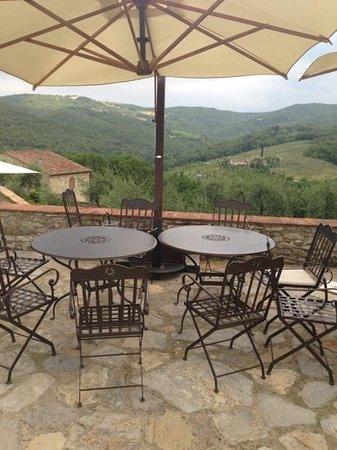 Casalta di Pesa: shared terrace