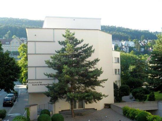 Hotel Restaurant Artus : Blick aus dem Zimmerfenster