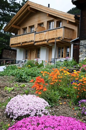 Hotel Blumental Murren: Chalet, upper left room is great!