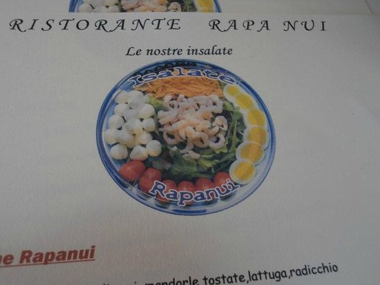 RapaNui : menù