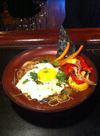 Griffin's Publick House: Asian Noodle Bowl with and egg