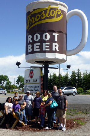 Frostop Drive In: Look for the big Root Beer and you are there.