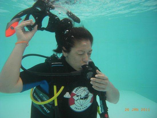 Crystal Clear Thailand: Снятие маски под водой