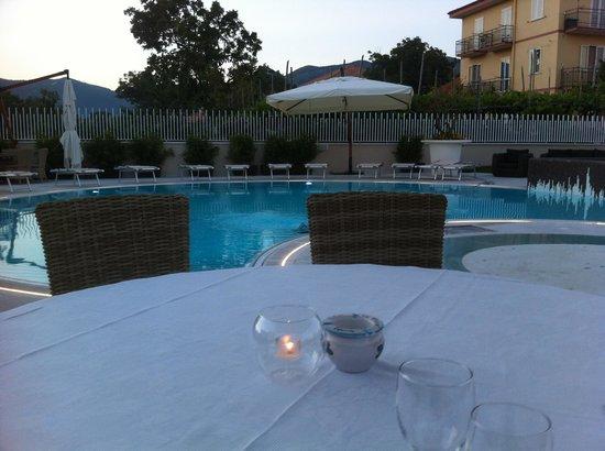 Hotel Le Rocce: Cena in piscina