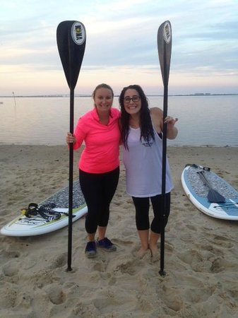 Jersey Shore Adventures Standup Paddle Boarding: Girls Paddling