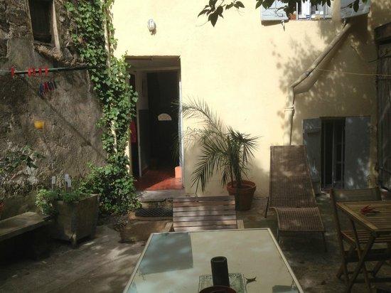 Precheurs Studios: The courtyard area