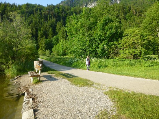 Appartement  Hotel Seespitz: Path along the lake