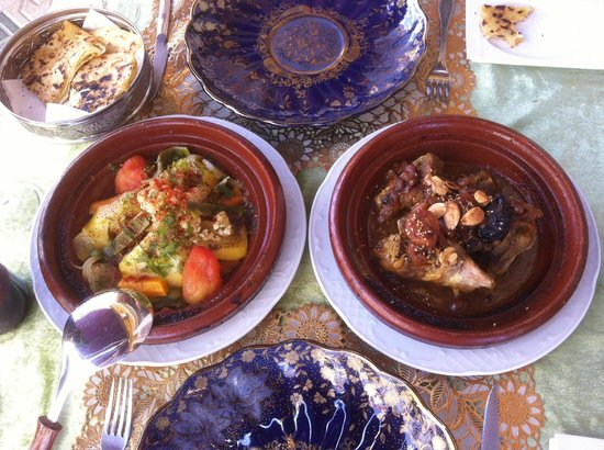 Oasis of Marrakesh: Chicken & lamb tagines
