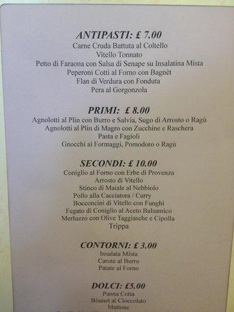 Calamandrana, Italien: Il menu