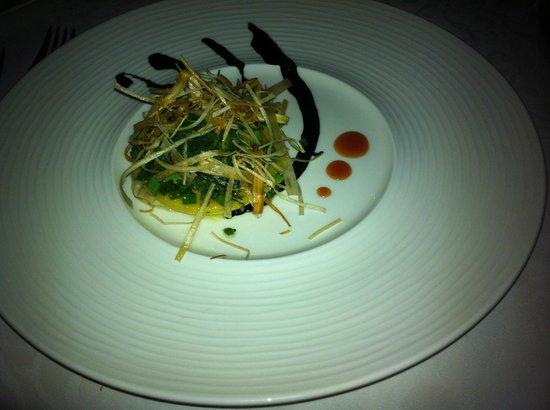 Constance Lemuria: Starter (Crab Ravioli) at Seahorse restaurant