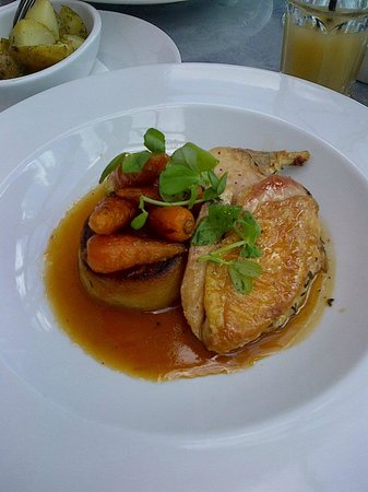 Aubaine: Supreme of Chicken with veg and fondant potato