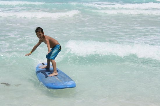 Gnarly's Surf School: My 7 year old.