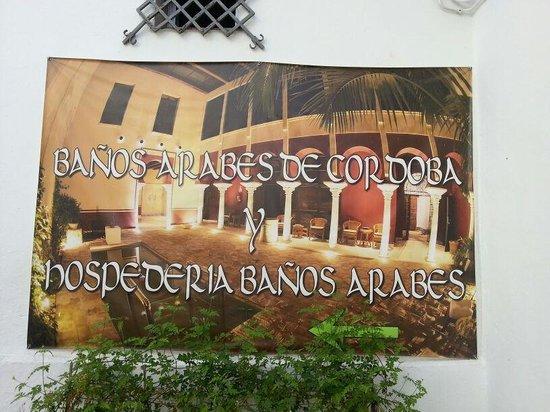 Banos Arabes de Cordoba: Cartel de indicación:)