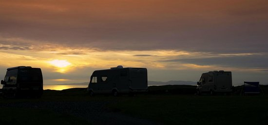 Machrihanish Holiday Park: sun set