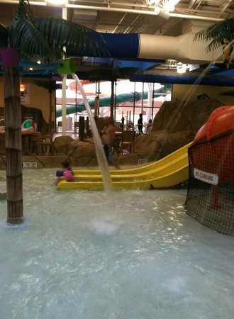 Quality Inn & Suites Palm Island Indoor Waterpark: My husband and youngest daughter.