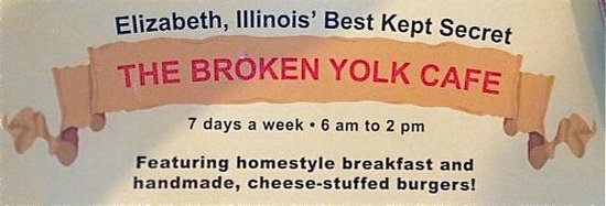 Broken Yolk: Name and Location