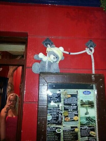 The Lifeboat Tavern: the Ted on the door