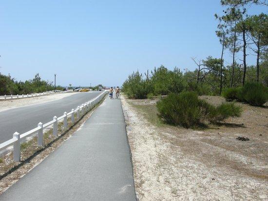 Euronat, Centre de vacances Naturistes : The main route throughthe site to the beach