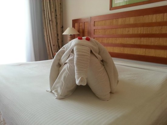 Laguna Vista Beach Resort: Our towel arrangement
