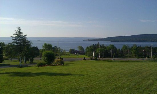 View from the Silver Dart Lodge, Baddeck, NS