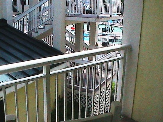 Best Western Plus Grand Strand Inn & Suites: Better shot of Obscured Balcony View from the far southwest corner of hotel