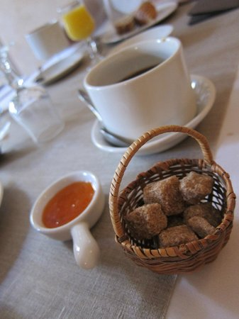 Le Couvent : Breakfast - very cute setting
