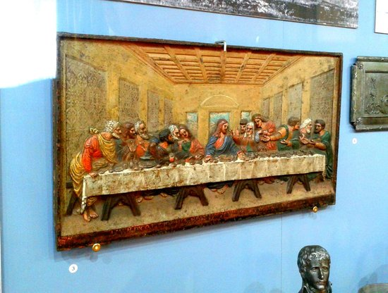 """Karelian State Museum of Local Lore: Рanno """"The Last Supper"""" made of cast iron by local craftsmen"""