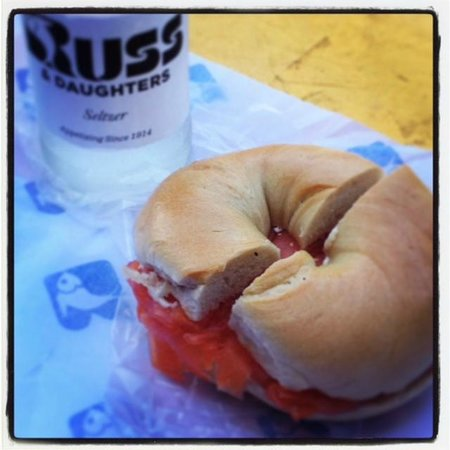 "Russ & Daughters : The quintessential order... ""A Classic""- Bagel with Lox"