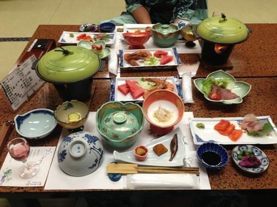 Great dinner at Ryokan Yakenoyu