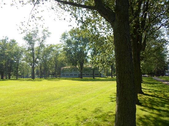 Butler's Barracks National Historic Site: Post 1812 barracks; out of range of American guns