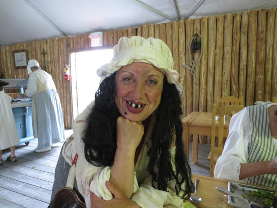 Point of View Suites at Louisbourg Gates: The resident wench.