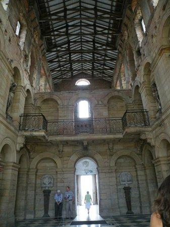 Seaton Delaval Hall: Mid restoration inside