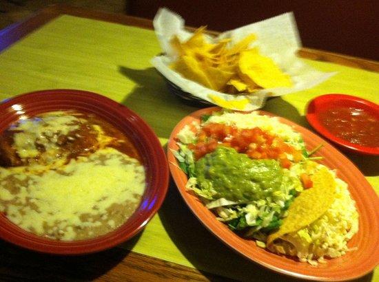 Don Juan Bar and Grill: Chile Relleno, Taco, & Guacamole Salad