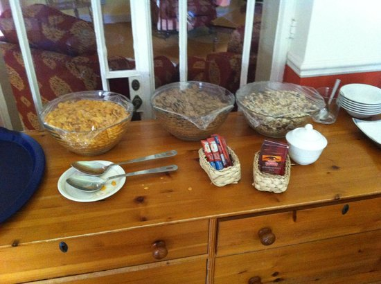 Donnybrook Lodge: Cereal, tea and INSTANT coffee