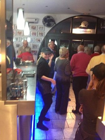 Peggotty's Finest Fish & Chips: The members of Benavista Bowls Club having a boogie at their private event- a great night!!