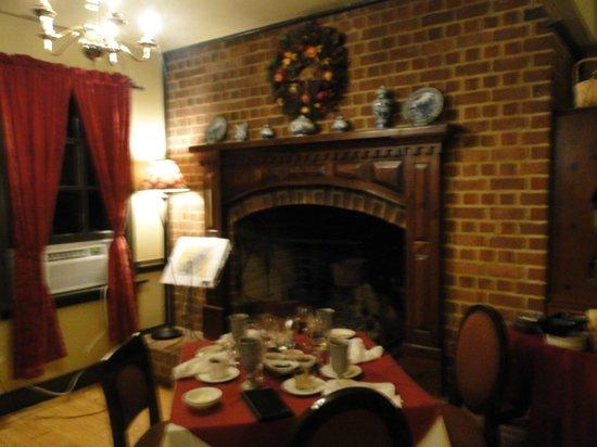 Kitchen At Powhatan Plantation: fireplace