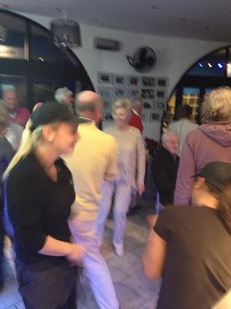 Peggotty's Finest Fish & Chips: Members of Benavista Bowls Club having a boogie at their private event- even the staff joined in