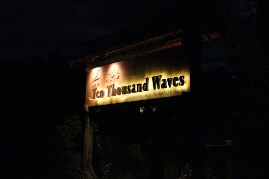 Ten Thousand Waves: Spa Sign