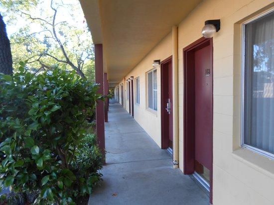 Quality Inn: Front Doors.  Ice Machine near 109