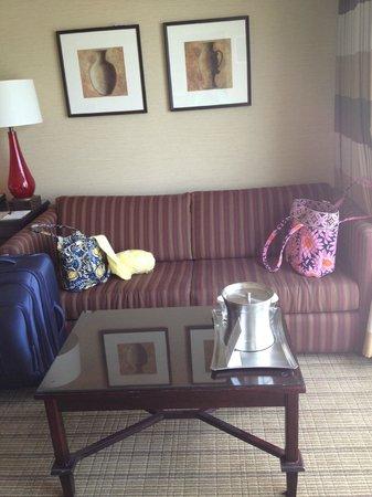 Hilton Niagara Falls/Fallsview Hotel & Suites: Sofabed area