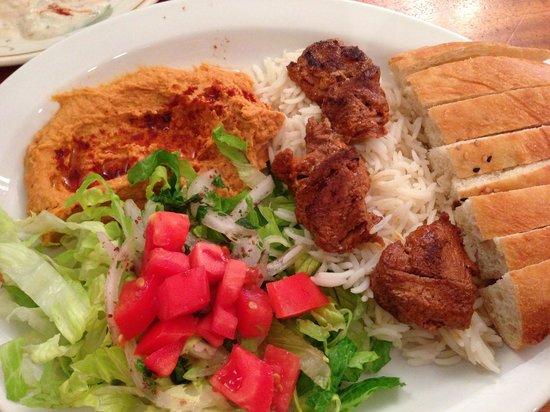 Sultan Kebab: Lamb Kebab platter - yum!