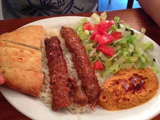 Sultan Kebab: Adana kebab platter