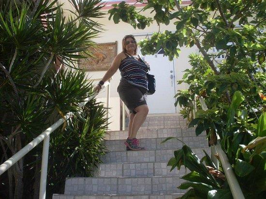 Casa Robinson: Escalera que conduce a la habitacion.