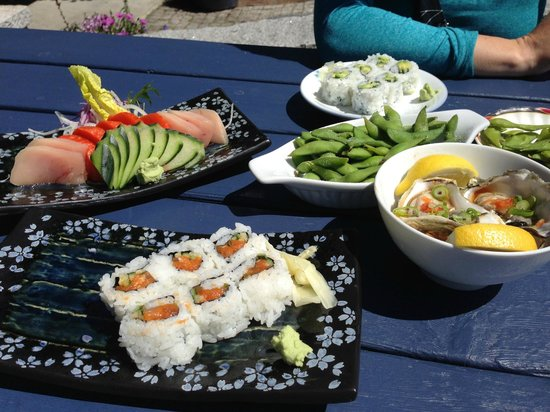 Tough City Sushi: Our lunch
