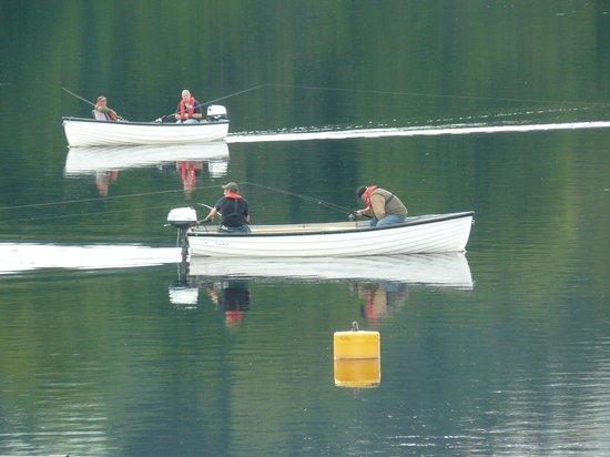 Morag Cottage B&B: Fishing by the dam